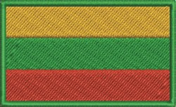 Lithuania Flag embroidery design