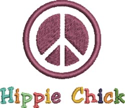 Hippie Chick Peace embroidery design