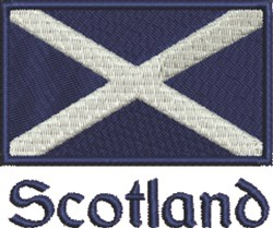 Scotland Flag embroidery design
