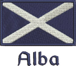 Scotland Flag Alba embroidery design
