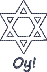 Star of David Oy embroidery design