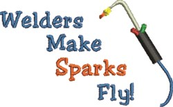 Welding Tool Sparks embroidery design
