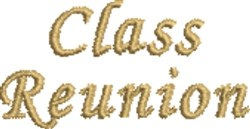 Class Reunion embroidery design