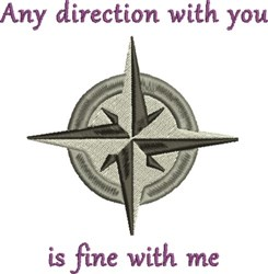 Need Direction Compass embroidery design