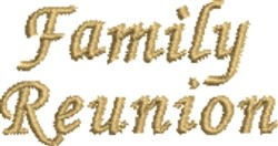 Family Reunion embroidery design