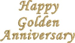 Golden Anniversary embroidery design