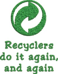 Greenpoint Recycler embroidery design