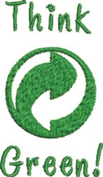 Greenpoint Think Green! embroidery design