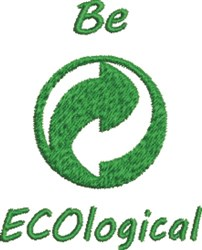 Greenpoint  Be Ecological embroidery design