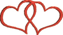 Twin Hearts Forever embroidery design
