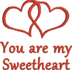 Twin Hearts My Sweetheart embroidery design