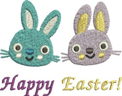 Happy Easter Bunnies embroidery design