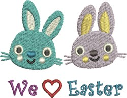 We Love Easter Bunnies embroidery design