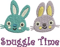 Snuggle Time Bunnies embroidery design