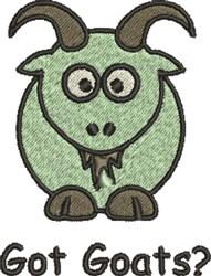 Got Goats? embroidery design