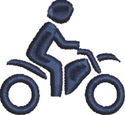 Motorcyclist embroidery design