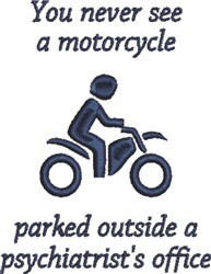 Motorcyclist Therapy embroidery design
