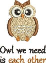 Owl You Needs Love embroidery design