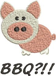 Pig BBQ?!! embroidery design