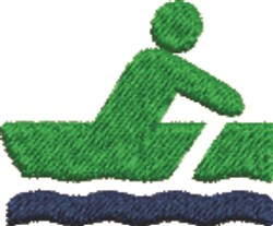 Rowing  embroidery design