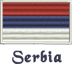 Made In Serbia embroidery design
