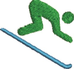 Lets Go Skiing embroidery design