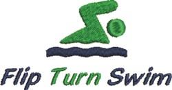 Flip Turn Swim embroidery design