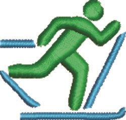 X-Country Skiing embroidery design