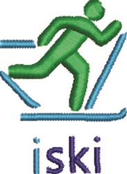 ISki X-Country embroidery design