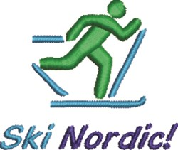 Ski Nordic X-Country embroidery design