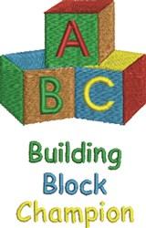 Building Block Champion embroidery design