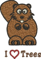 Beaver Trees embroidery design