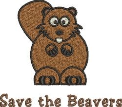 Save Beavers embroidery design