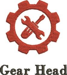 Gear Head embroidery design