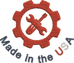 Gearhead USA embroidery design