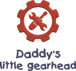 Daddys Gearhead embroidery design