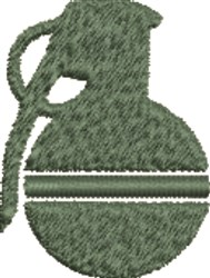 Grenade Silhouette embroidery design