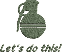 Grenade Do This embroidery design