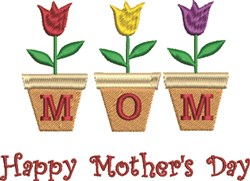 Mom Day embroidery design