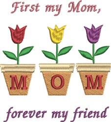 Mom Friend embroidery design