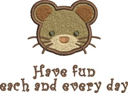 Mouse Fun embroidery design