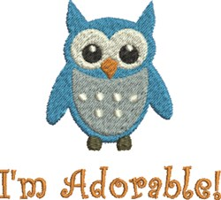 Owl Adorable embroidery design