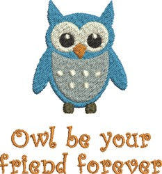 Owl Friend embroidery design