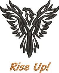 Phoenix Rise embroidery design