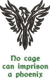 Phoenix Cage embroidery design