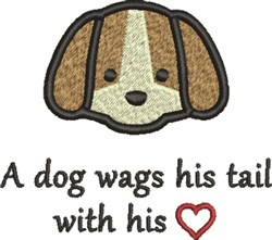 Puppy Tail embroidery design