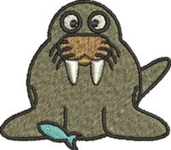 Walrus Fish embroidery design