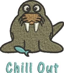 Walrus Chill embroidery design