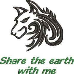 Wolf Earth embroidery design