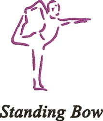 Standing Bow embroidery design